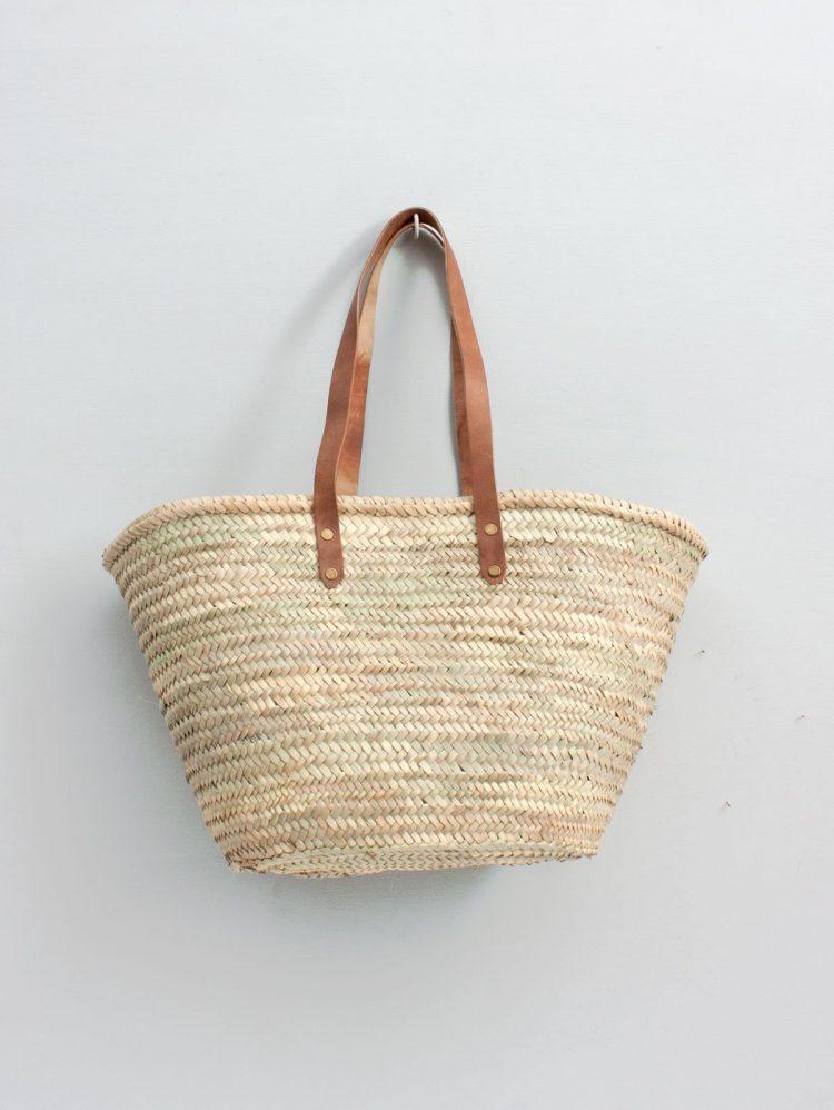 Original leather basket bag Marrakech